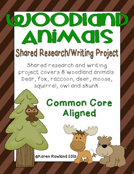 Woodland Animals Shared Research and Writing Project