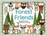 Woodland Forest Animal Theme Classroom Decor Bundle