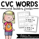 Word Builders {-at family freebie}
