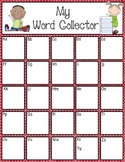 Word Collector Poster and Personal Chart