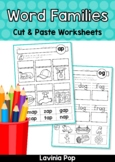 Word Families - CVC/CCVC Cut & Paste Worksheets