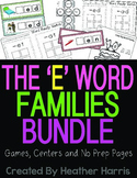 Word Family Bundle: The E Families CVC