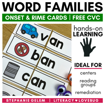Word Families- Short A Onset and Rime Cards