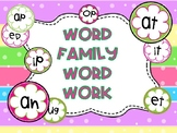 Word Families Word Study-Common Core