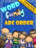 Word Family ABC Order
