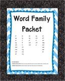 Word Family Cut & Paste Complete Set 36 Families