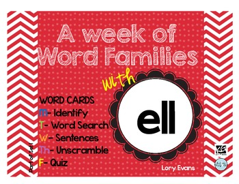 Word Family - ell family