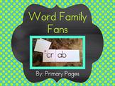 Word Family Fans for Fluency