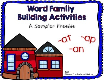 Word Family Building-First Grade and Fabulous