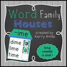 Word Family Houses Long Vowels a and i