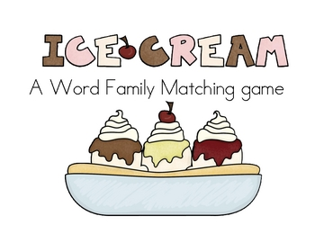 Word Family Ice Cream Cones