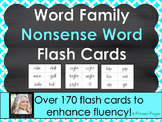 Word Family Nonsense Word Flash Cards