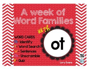 Word Family - ot family