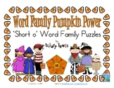 Word Family Puzzles - Pumpkin Power - Short O