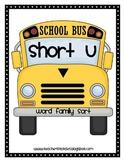Word Family Sort- Short U