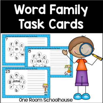 Word Family Task Cards Set 1
