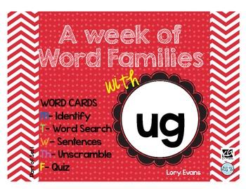 Word Family - ug family