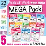 Word Families - Word Family Week Mega Pack