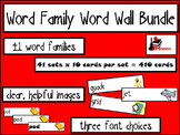 Bundle - Word Family Word Wall Cards - 41 sets