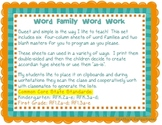 Word Family Word Work K-2