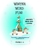 Word Fun with Winter Words