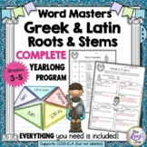 Greek & Latin Roots & Word Stems ~ Year-Long  Program ~ Pa