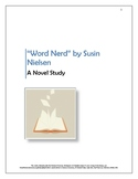 """Word Nerd"" by Susin Nielsen: a comprehensive novel study"