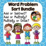 Word Problem Operation Sort - Bundle