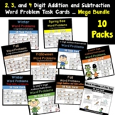 Word Problem Task Cards Addition/Subtraction Bundled