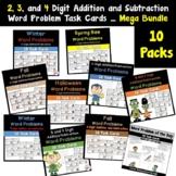 Word Problem Task Cards Addition/Subtraction Bundled