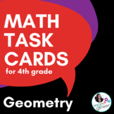Geometry Task Cards, 4th Grade (QR Codes) Common Core Aligned