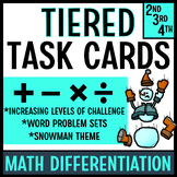 Word Problem Task Cards (Snowmen!)
