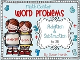 Word Problems:  Addition and Subtraction to 20 Math Center