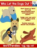 Short Vowel Word Sort {Dogs}