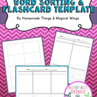 Word Sorting  & Flashcard Template