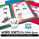 "Word Sorts ""Out of Sorts?"" File Folder Literacy Games"