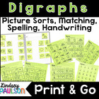 Word Study: 7 Differentiated Digraph Picture Sorts