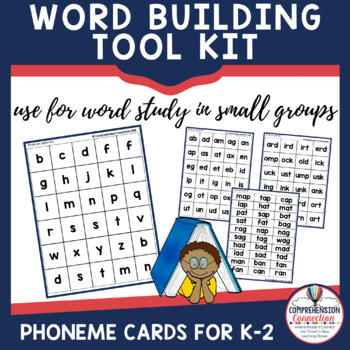Word Study Cards for Push It Say It and Making Words