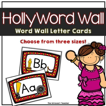 Word Wall Letter Labels: Hollywood clapboard and star theme