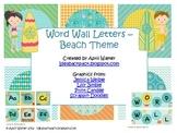 Word Wall Letters - Beach/Ocean