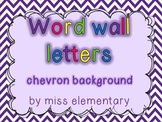 Word Wall Letters - Chevron Background