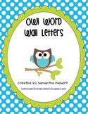 Word Wall Letters with Owls