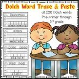 Dolch Word Trace & Paste (Preprimer-3rd grade)