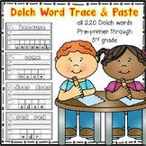 Dolch Word Trace & Paste (Preprimer-3rd grade)