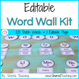 Word Wall with Editable Sight Words