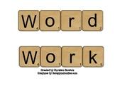 Word Work Activties