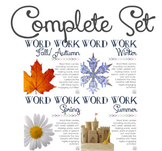 Word Work Centers: Four Seasons {BUNDLED SET}
