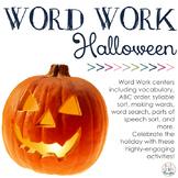 Word Work Centers: Spooky Halloween