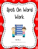 Word Work Fun
