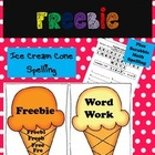 Word Work Ice Cream Cone Spelling